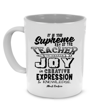 Funny Unique Teacher Coffee Mug - Cute Graduation, Appreciation or Retirement Gift - Printed on Both Sides!