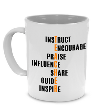 Fun, Unique Teacher Coffee Mug, Perfect as a Graduation, Appreciation or Retirement Gift - Printed on Both Sides