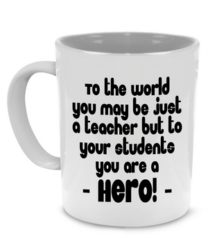 Funny Cute Teacher Appreciation Thank You Gifts Coffee Mug - Printed on Both Sides! - Stir Crazy Gifts