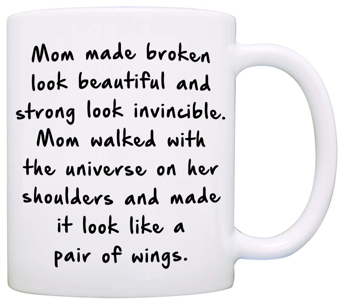 Perfect Gift For Mom From Daughter Coffee Mug Unique Presents Mothers Day Birthday