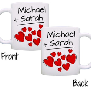 Personalized His and Her Couples Wedding Gift Mug, I love my Husband Wife Mom and Dad Romantic Coffee Cup, Printed on Both Sides! - Stir Crazy Gifts