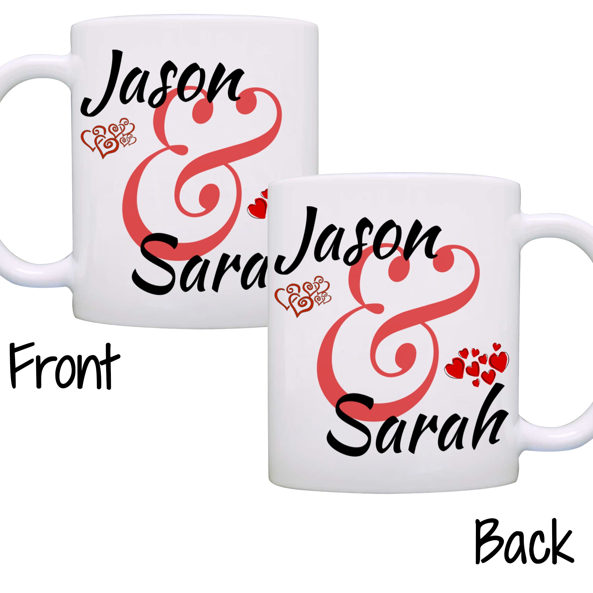 Romantic Wedding Gifts: Personalized Couples Wedding Anniversary Gift Mug