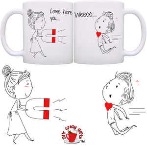 Personalized!! Come Here Darling Couple Mugs - Printed on Both Sides - 2 Sets