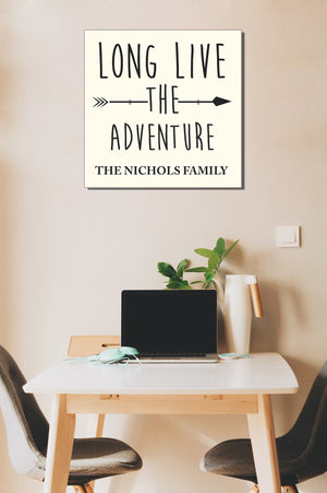 Personalized!! Long Live The Adventure, Family Gifts Wall Art Canvas Wrap