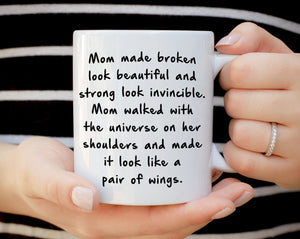 Perfect Gift for Mom from Daughter Coffee Mug, Unique Presents for Mothers Day, Birthday and Grandma Thank You Gifts, Printed on Both Sides - Stir Crazy Gifts