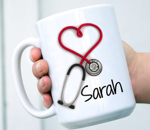 Personalized - Nurses and Doctors Stethoscope Mug