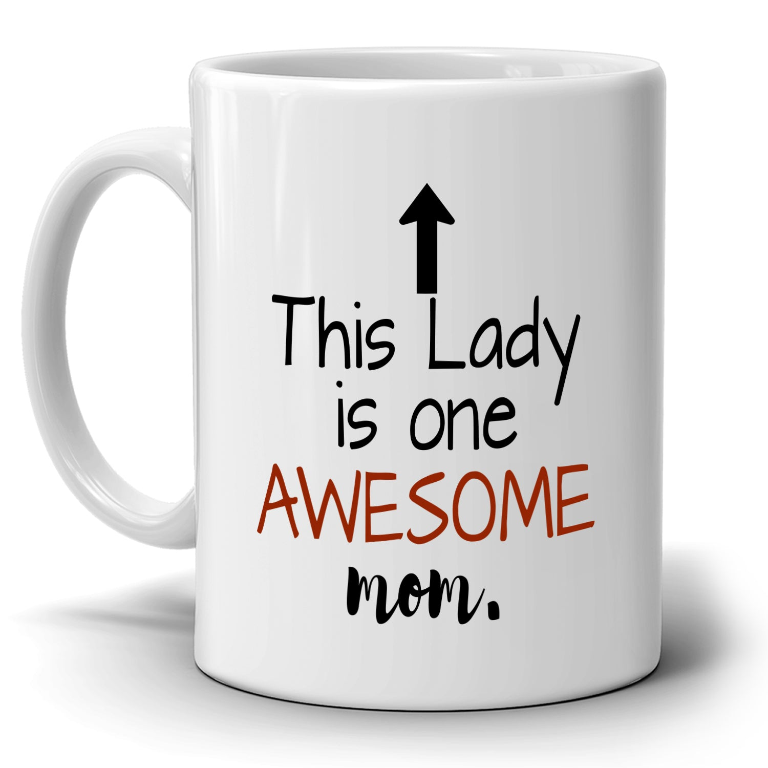 Cool Mama And Grandma Birthday Gifts Mug This Lady Is One Awesome Mom Coffee Cup