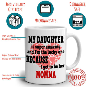 Cute Daughter and Mother Birthday Gift Mug, Printed on Both Sides!
