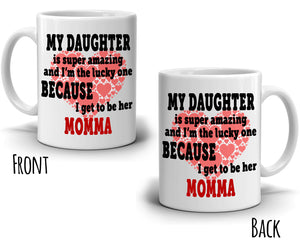 Cute Daughter and Mother Birthday Gift Mug, Printed on Both Sides! - Stir Crazy Gifts