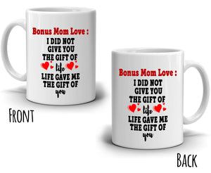 Thank You Mom Gifts Mug for Mothers Day and Birthday Coffee Mug, Printed on Both Sides!