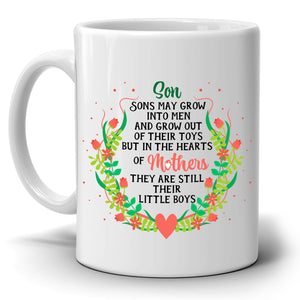 Inspirational Mom and Sons Coffee Gift Mug Mothers Day Present, Printed on Both Sides! - Stir Crazy Gifts