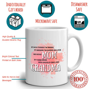 Funny Mom and Grandma Coffee Gifts Mug Present for Mothers Day, Printed on Both Sides!