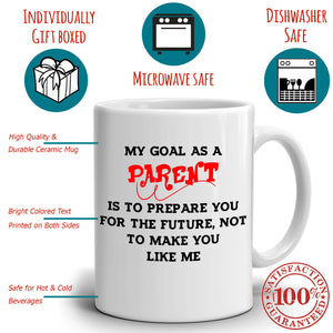Inspirational Mom and Dad Gifts Mug for Kids as Parent Coffee Cup, Printed on Both Sides!