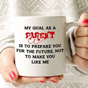 Inspirational Mom and Dad Gifts Mug for Kids as Parent Coffee Cup, Printed on Both Sides! - Stir Crazy Gifts