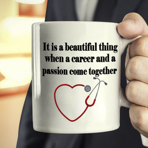 Inspirational Doctors and Nursing College Graduation Gifts for Nurse Coffee Mug, Printed on Both Sides! - Stir Crazy Gifts