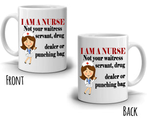 Funny Sarcasm Nursing Gifts for Nurse Practitioner Coffee Mug, Printed on Both Sides! - Stir Crazy Gifts