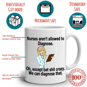 Funny RN Nurse Gifts Coffee Mug for Nurses Week, Printed on Both Sides!
