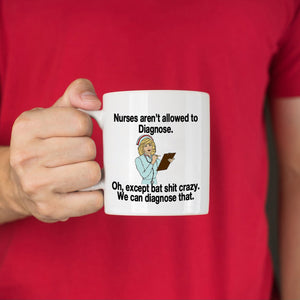 Funny RN Nurse Gifts Coffee Mug for Nurses Week, Printed on Both Sides! - Stir Crazy Gifts