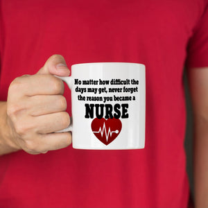 Inspirational Nurse Appreciation Gifts Coffee Mug, Printed on Both Sides!