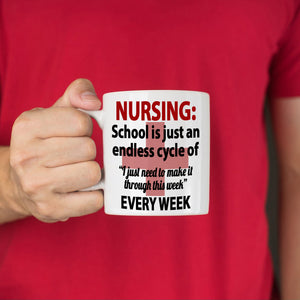 Inspirational School Nurse Gifts for College Nursing Students Coffee Mug, Printed on Both Sides!