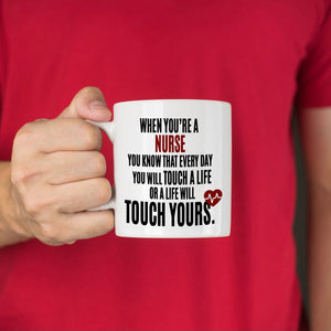 Inspirational Nurse Day Gifts Coffee Mug Registered Nurses Appreciation Present, Printed on Both Sides! - Stir Crazy Gifts