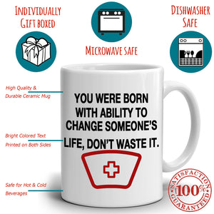 Inspirational Doctors And Nurse Gifts Quotes Coffee Mug, Printed on Both Sides!