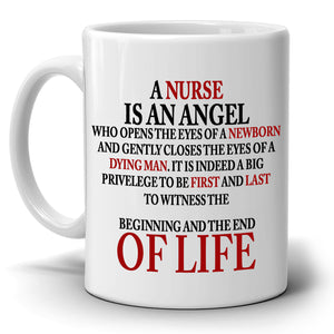 Inspirational Nurse Quotes Gifts Appreciation Coffee Mug, Printed on Both Sides!