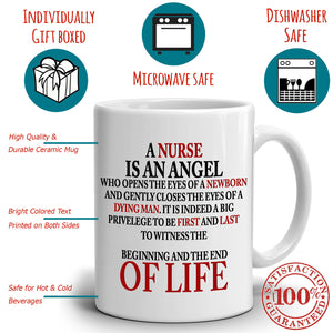 Inspirational Nurse Quotes Gifts Appreciation Coffee Mug, Printed on Both Sides! - Stir Crazy Gifts