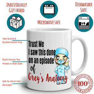 Funny Cute Doctors and Nurses Gifts Coffee Mug, Printed on Both Sides!