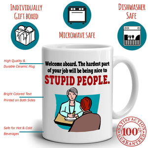 Funny New Nursing Graduates Gifts for Nurses Coffee Mug, Printed on Both Sides!