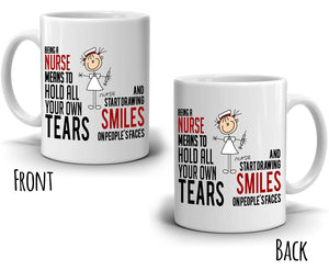 Inspirational Nursing Gifts Coffee Mug for Nurses, Printed on Both Sides! - Stir Crazy Gifts