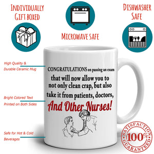Funny Nursing Gifts for Newly Graduate Nurses Coffee Mug, Printed on Both Sides!