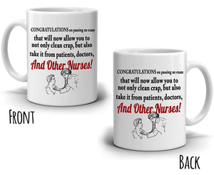 Funny Nursing Gifts for Newly Graduate Nurses Coffee Mug, Printed on Both Sides! - Stir Crazy Gifts