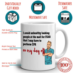 Funny RN Male Nurse Gifts Coffee Mug, Printed on Both Sides! - Stir Crazy Gifts