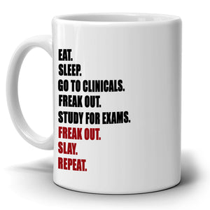 Funny Student Nurse Life Gifts for Nurses Coffee Mug, Printed on Both Sides!