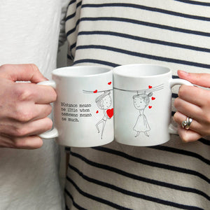 Personalized!! My Heart For You Couples Mug - Printed on Both Sides - 2 Sets
