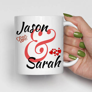 Personalized Couples Wedding Anniversary Gift Mug, Romantic His and Her Coffee Cup, Printed on Both Sides! - Stir Crazy Gifts