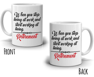 Retirement Gifts for Women Mug Retired Gag Party Decoration Supplies Gift Coffee Cup, Printed on Both Sides!
