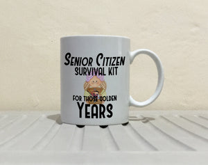 Funny Golden Years Retirement Gift Mug for Retired Men and Women Senior Citizen Coffee Cup, Printed on Both Sides!