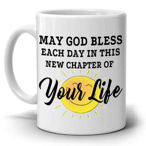Happy Retirement Gifts Mug New Chapter for Retirees and Retired Men and Women Coffee Cup, Printed on Both Sides!