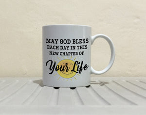 Happy Retirement Gifts Mug New Chapter for Retirees and Retired Men and Women Coffee Cup, Printed on Both Sides! - Stir Crazy Gifts