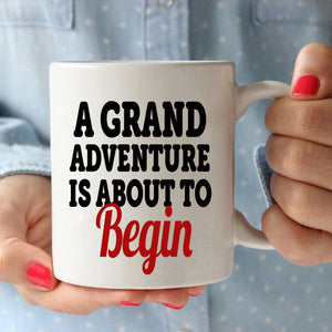 Retirement Gifts Mug for Retired Men and Women Retirees A Grand Adventure is About To Begin, Printed on Both Sides!