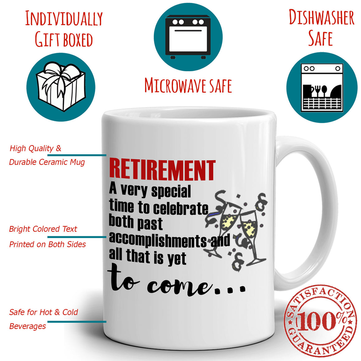 Inspirational Retirement Gift for Retired Coworkers Boss Men and Women Retirees, Printed on Both Sides!