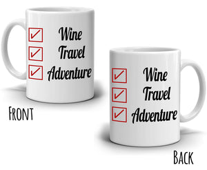 Retirement Gifts Checklist Mug Coffee Travel Adventure Retired Mug for Retirees, Printed on Both Sides!