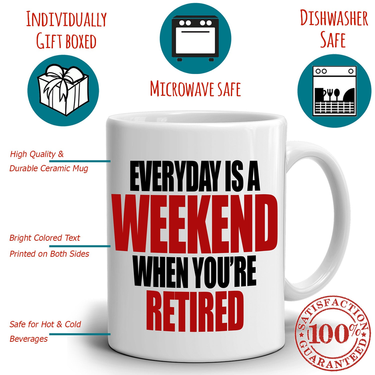 87ac6ef33 Humorous Retirement Party Decoration Supplies Gift Mug Retiree Everyday is  a Weekend When You're