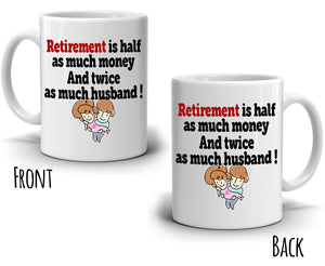 Funny Retirement Gifts Mug for Retired Couples Husband and Wife Retiree Coffee Cup, Printed on Both Sides!