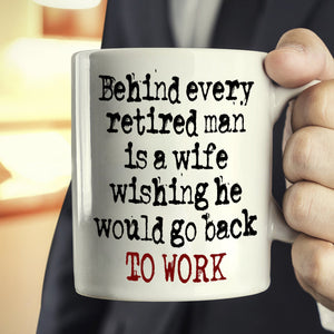 Funny Retired Husband and Wife Retirement Gifts Couples Retiree Mug, Printed on Both Sides! - Stir Crazy Gifts
