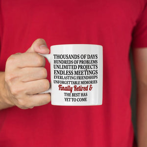 Retirement Gifts Mug for Retiree Women Men Boss Coworkers Finally Retired, Printed on Both Sides!