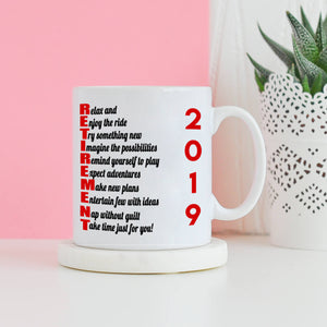Funny Humorous Retirement Checklist Gifts Mug for Men and Women, Printed on Both Sides!