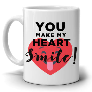 Unique His and Her Gift Mug, Perfect Romantic Couples Gifts Coffee Cup, Printed on Both Sides!